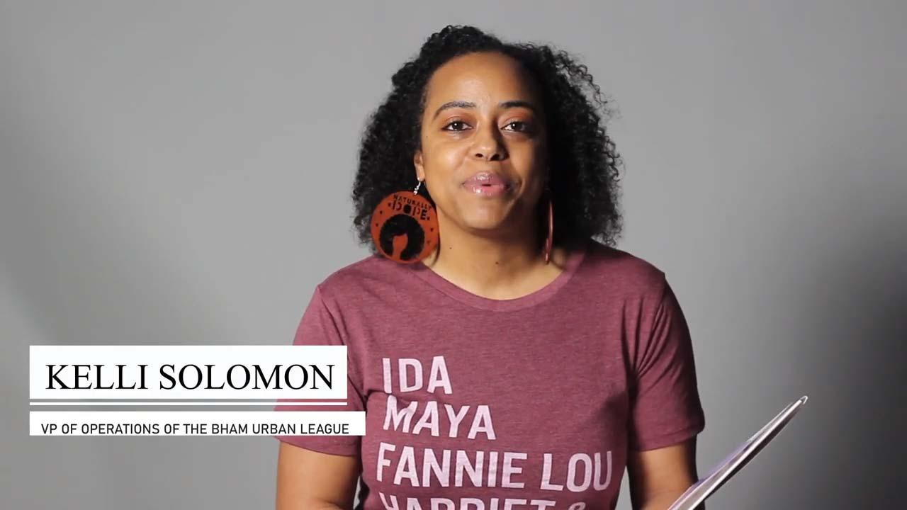 Kelli Solomon VP of Operations of  The Birmingham Urban League  reads